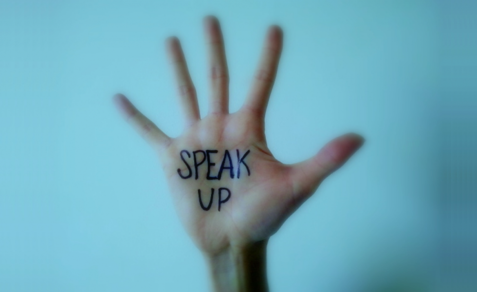 Speak Up hand